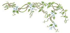 Flower Vine Wall Stencil