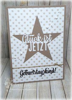 Kulricke Nesting Stars Stanzen, Kulricke Glück ist jetzt Line Stanze, Kulricke Geburtstag 2 Stempel Set, Kulricke Sternchenpapier