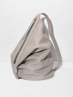 KARA Dry Bag in sand pebble leather