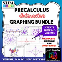 Cool Graphs made so easily!  No internet needed. Works anywhere on any PC Computer. Copy, paste into a test or handout.Great for Algebra, PreCalculus, and Trigonometry.  You will love this!!!  Amazing addition to all of your your Algebra based classes, Algebra 1, Algebra 2, PreCalculus or College Algebra.