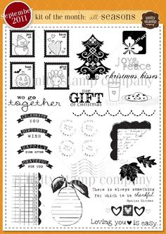 Unity Stamp Company September 2011 Kit of the Month