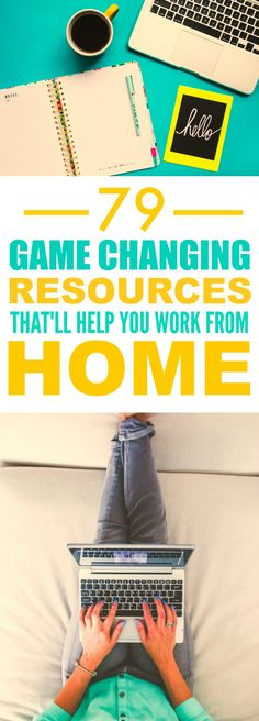 These 79 resources to help you work form home are THE BEST! I'm so glad I found this AWESOME post, it's so helpful! The writer really gives some great ideas and ways to make working form home SO MUCH easier!