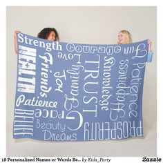 Shop 18 Personalized Names or Words Best Wishes fleece created by Kids_Party. Great Gifts For Guys, Gifts For Her, Customized Gifts, Personalized Gifts, Word Collage, Personalised Blankets, Picnic In The Park, Edge Stitch, Baby Boy Gifts