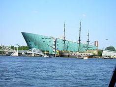 Nemo museum of science Amsterdam Pavilion Architecture, Organic Architecture, Architecture Portfolio, Futuristic Architecture, Contemporary Architecture, Landscape Architecture, Renzo Piano, Amsterdam, Henning Larsen