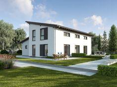 Pultdachhaus Genf • Effizienzhaus von GUSSEK HAUS • Elegantes Einfamilienhaus mit Einliegerwohnung und getrennten Hauseingängen.
