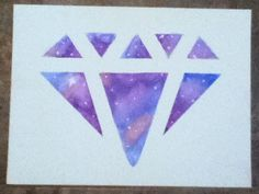 My little sister made this diamond galaxy painting with acrylic paint, pieces of sponge, masking tape, and a canvas. She found it on this youtube channel: MollouDIY