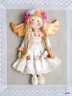 anioł z masy solnej, laleczka z masy solnej, anioł romantyczny, anioł, aniołek, masa solna, kwiaty ręcznie robione, salt dough angel, salt dough, romantic angel,