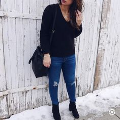 """1,861 Likes, 90 Comments - Blogger • Aliya (@stylebyaliya) on Instagram: """"I wasn't too sure about this V-neck BP sweater from @nordstrom when I purchased it. I find…"""""""