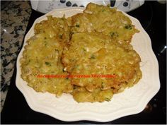 Tortitas de camarones en Thermomix Tapas, Quiche, Risotto, Grains, Dishes, Chicken, Meat, Breakfast, Ethnic Recipes
