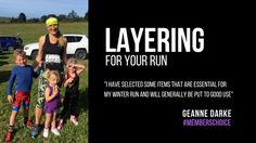 Layering for your run   Commander HQ talks to our club member Geanne Darke