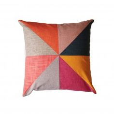 Large Triangle Patchwork cushion