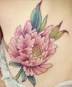 Peony Tattoo: love the color; don't know why but I really love everything about this.