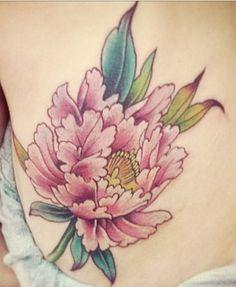 Peony Tattoo - great colors.
