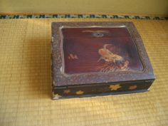 Antique writing box written beautiful crane  This is other woodenware page. http://stores.ebay.com/Ganbarou-JAPAN-thanks?_dmd=2&_nkw=wooden