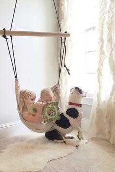 Children's Hanging Swing | CloverandBirch on Etsy