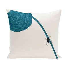 E by Design 26 x 26-inch Eensy Weensy Spider Holiday Print Pillow