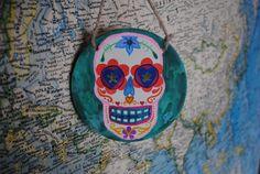 Dia De Los Muertos decorative ceramic tile by aversion on Etsy