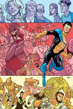 Invincible Vol. Superhero Characters, Comic Book Characters, Comic Books Art, Comic Art, Book Art, Best Superhero, Superhero Design, Invincible Comic, Perfect Strangers