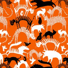"Jenna Kunnas, ""Pawhill"" pattern illustration for Finlayson, 2016"