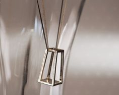 Garosu Girls My Geometry rectangular 3D necklace. Unique, modern. From www.moxyst.com