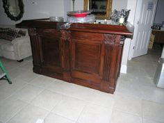 Custom Mahogany/Travertine Bar - http://get.sm/ECCWxLu #tradebank Miscellaneous,Atlanta-Metro