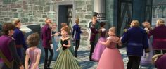 Rapunzel and Flynn Rider attending the coronation of Queen Elsa - Disney Easter Egg