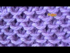 Cómo Tejer PUNTO ENCADENADO - 2 Agujas (95) - YouTube