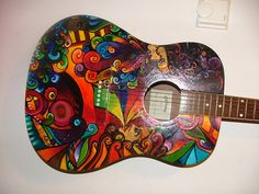 Rainbow Design Guitar Check out http://GreatGuitarLessonsOnline.com #guitars #guitarlessons #playguitar