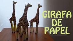 Como fazer Girafa de Papel artesanato com jornal - papietagem Feito a mao