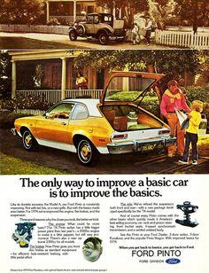 Metal Sign - 1974 Ford Pinto - Rusty Look 2 Ford Pinto, Funny Car Memes, Car Humor, Car 15, Ford Pickup Trucks, Car Ford, Car Racks, Ford Maverick, Car Advertising