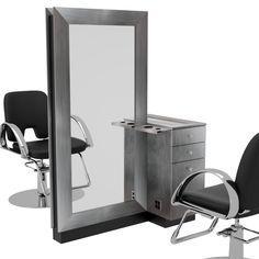 Sydney Single-Sided Styling Stations with Trolleys Home Beauty Salon, Beauty Salon Decor, Beauty Salon Design, Home Salon, Hair And Beauty Salon, Beauty Room, Hair Salon Stations, Styling Stations, Beauty Salon Interior