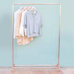 Copper Pipe Clothing Rail / Garment Rack / by LittleDeerEtsy
