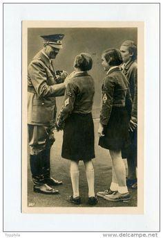 W.W. II, Hitler charming the school girls.