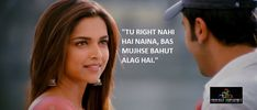 Why Ye Jawani Hai Deewani Quotes Are a Complete Reflection Of Our Generation. You should watch these amazing Quotes from this movie to inspire you. Famous Movie Quotes, Quotes By Famous People, People Quotes, Romantic Dialogues, Movie Dialogues, Bollywood Love Quotes, Bollywood Posters, Yjhd Quotes, Movie Captions
