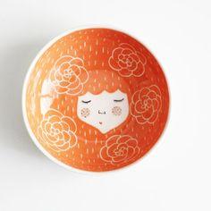 Marinski bowls with character orange