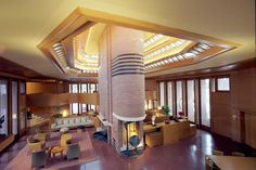 Frank Lloyd Wright, Wingspread (Herbert Johnson House), Wind Point, Wisconsin, 1937.--Tumblr