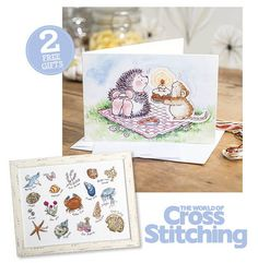 TWO FREE GIFTS! Card kit plus Seashore Sampler chart. Only with the print edition of issue 231 of The World of Cross Stitching magazine – everything to make this super-sweet birthday card, plus your second gift is an exclusive summery sampler, by none other than Madeleine Floyd!