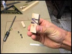 EJ's Woodworking Wave Inlay on a Ball Point Pen - YouTube