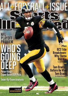 On the Cover: Ben Roethlisberger, Football, Pittsburgh Steelers Photographed by: Damian Strohmeyer / SI Pittsburgh Steelers Football, Pittsburgh Sports, Pittsburgh Pirates, Sports Magazine Covers, Here We Go Steelers, Steelers Stuff, Si Cover, Sports Illustrated Covers