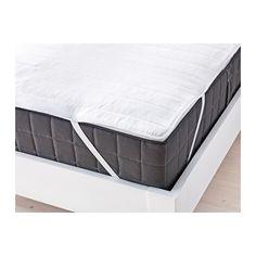IKEA - ÄNGSVIDE, Rullemadras,  , 180x200 cm, , Du kan forlænge madrassens levetid med en rullemadras, der beskytter mod pletter og snavs.Elastik i alle hjørner holder rullemadrassen på plads.Et godt valg, hvis du er allergisk over for støvmider, fordi rullemadrassen kan maskinvaskes ved 60°, som er den temperatur, støvmider bliver dræbt ved.