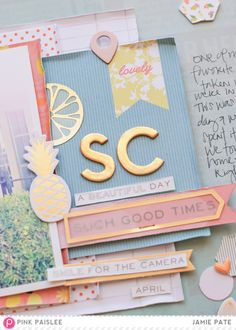 National Scrapbook Day/Weekend | @jamiepate for @pinkpaislee Why do you scrapbook. My number one reason I am creative in the world of paper and embellishments.