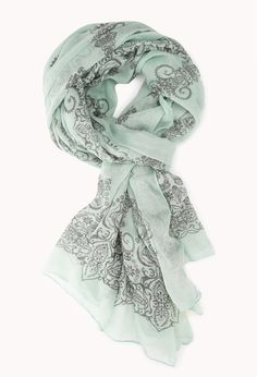 Boho Summer Scarf Via: Forever 21 // mint green.