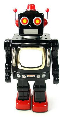 "TIN TOY BATTERY ROBOT "" Thought #Provoking Hashtags: The #Maj #Android"