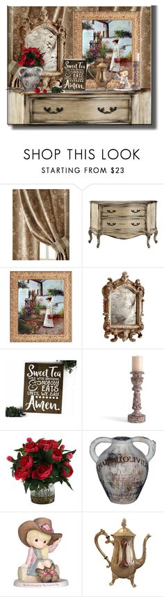 """""""going country"""" by flora-chn ❤ liked on Polyvore featuring interior, interiors, interior design, home, home decor, interior decorating, Sherry Kline, Cyan Design, Bliss Studio and GuildMaster"""