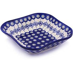Ceramika Bona H7866G Polish Pottery Ceramic Square Bowl Hand Painted 8Inch * More details @