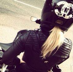 Moto bike chanel casque