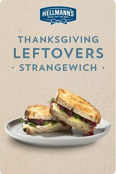 Best parts of Thanksgiving dinner—in a sandwich. Pass the cranberry sauce! We've got the perfect solution to those leftovers. Click through for full recipe.