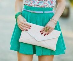 clutch, bracelets, and don't forget a ring!