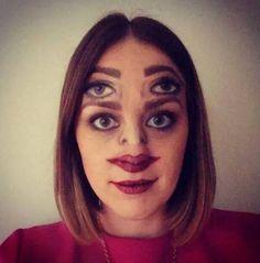 creepy halloween face makeup