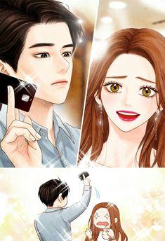 너라는 별 (Star You) Korean Manhwa Manga Anime, Manga Kawaii, Manhwa Manga, Anime Couples Manga, Cute Anime Couples, Anime Guys, Manga Couple, Anime Love Couple, Couple Art